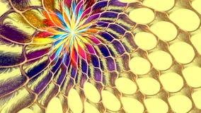 Abstracte kleurrijke vormen die als een carrousel spinnen Hoog Gedetailleerd stock video