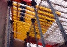 Abstracte kleurrijke vormen, levendige tinten, achtergrond royalty-vrije stock afbeelding
