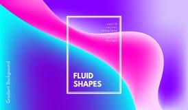 Abstracte Kleurrijke Vormen met 3d Effect stock illustratie