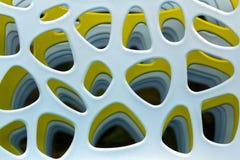 Abstracte kleurrijke vormen in zachte uitstekende kleuren Stock Foto