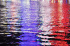 Abstracte kleurrijke waterbezinning Stock Foto