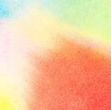 Abstracte kleurrijke waterverfachtergrond Stock Afbeelding