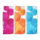 Abstracte kleurrijke Webbanners Royalty-vrije Stock Afbeeldingen