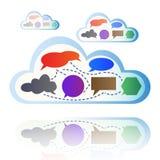 Abstracte kleurrijke wolk gegevensverwerking Stock Afbeelding