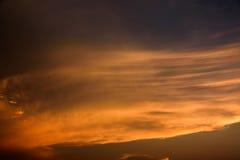 Abstracte kleurrijke zonsondergang Stock Afbeelding