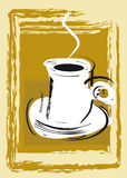 Abstracte koffie of theekop stock illustratie