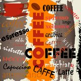 Abstracte koffieachtergrond Royalty-vrije Stock Afbeelding