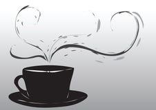 Abstracte koffiekop Stock Afbeeldingen