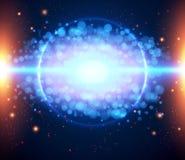 Abstracte kosmische lichte achtergrond eps 10. Royalty-vrije Stock Afbeeldingen
