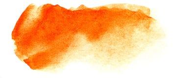 Abstracte krantekopachtergrond Een vormeloze langwerpige vlek van gouden oranjegele kleur Gradiënt van dark aan licht royalty-vrije stock foto