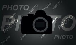 Abstracte kringscamera op een grijze achtergrond Stock Afbeelding