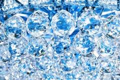 Abstracte kristallenachtergrond Stock Afbeeldingen