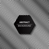 Abstracte kromme zwart-witte achtergrond, modern 3d patroon, Royalty-vrije Stock Afbeelding
