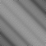 Abstracte kromme zwart-witte achtergrond, modern 3d patroon, Stock Afbeeldingen