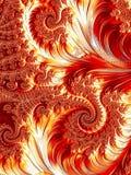 Abstracte krullen en spiralen digitaal geproduceerde achtergrond - imag vector illustratie