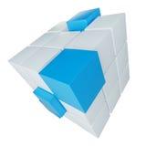 Abstracte kubus die van blokken assembleren Royalty-vrije Stock Afbeelding
