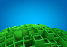 Abstracte kubusachtergrond Royalty-vrije Stock Foto's