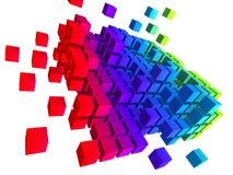 Abstracte kubussen stock illustratie
