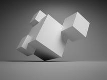 Abstracte kubussen Stock Afbeelding