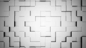 Abstracte kubussenbeweging, 3D animatie Naadloze van een lus voorziende abstracte kubussenachtergrond De kubussen zijn samengeste stock illustratie