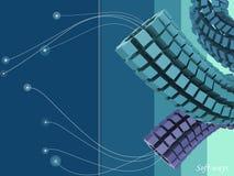 Abstracte kubussensamenstelling Stock Afbeelding