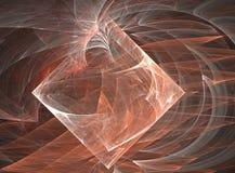 Abstracte Kunst die - de Kubus ingaat stock illustratie