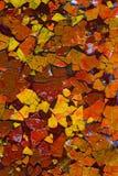 Abstracte kunst met geschilderde eishells Stock Fotografie