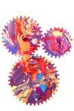 Abstracte kunst met tandraderen Royalty-vrije Stock Afbeeldingen