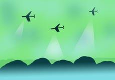 Abstracte kunst met vliegtuigen Stock Afbeeldingen