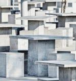 Abstracte Kunst - Patroon van vierkante lijsten Stock Fotografie