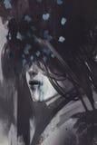 Abstracte kunst van ongebruikelijk portret stock illustratie