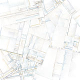Abstracte Kunst van Stadsblokken Royalty-vrije Stock Foto