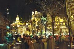 Abstracte kunst van stadsstraat met kleurrijk licht vector illustratie