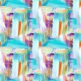 Abstracte kunstachtergrond Met de hand geschilderde achtergrond Acrylbeeld Naadloos patroon stock foto