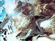 Abstracte kunstachtergrond Olieverfschilderij op canvas Fragment van kunstwerk Vlekken van olieverf Modern art Eigentijds art. stock illustratie