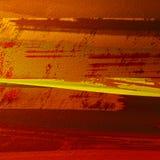 Abstracte kwaststreken geschilderde achtergrond De monsters van de Grungekleur in bronstoon Goed voor: affichekaarten, decor royalty-vrije illustratie
