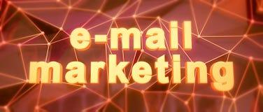 Abstracte laag-polyachtergrond Tekst e-mail marketing Stock Afbeeldingen