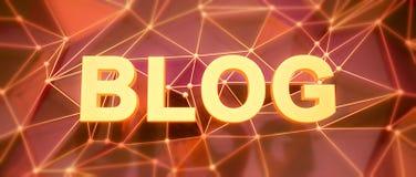 Abstracte laag-polyachtergrond Word concept Tekst BLOG Royalty-vrije Stock Afbeelding