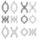 Abstracte labyrintkaders Royalty-vrije Stock Foto's
