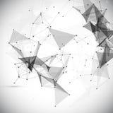 Abstracte, lage poly, Molecule en Mededeling Stock Fotografie