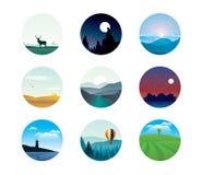 Abstracte landschappen Royalty-vrije Stock Afbeeldingen
