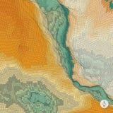 Abstracte landschapsachtergrond mozaïek Stock Fotografie