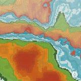 Abstracte landschapsachtergrond mozaïek Stock Afbeeldingen