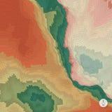 Abstracte landschapsachtergrond mozaïek Stock Foto