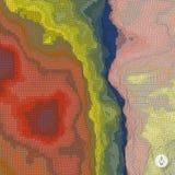 Abstracte landschapsachtergrond mozaïek Royalty-vrije Stock Afbeelding