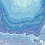 Abstracte landschapsachtergrond Mozaïekvector Royalty-vrije Stock Afbeelding