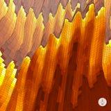 Abstracte landschapsachtergrond Mozaïekvector stock illustratie