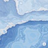 Abstracte landschapsachtergrond Mozaïekvector Stock Fotografie