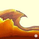 Abstracte landschapsachtergrond Mozaïekvector Stock Afbeeldingen