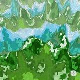 Abstracte landschapsachtergrond mozaïek Stock Foto's